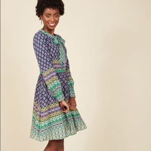 Modcloth Most Delightful to Date Shirt Dress